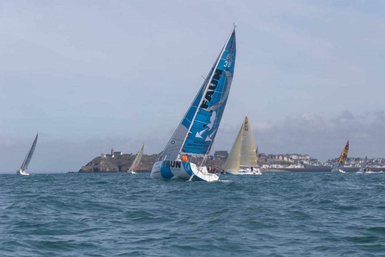 Déjà 5 heures de navigation pour Arnaud !