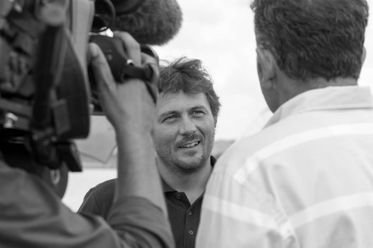 Interview pour France O et accueil du sponsor.